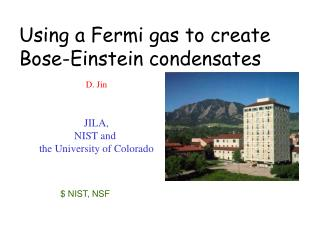 Using a Fermi gas to create Bose-Einstein condensates