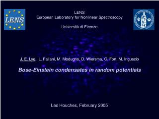 Bose-Einstein condensates in random potentials