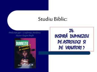 Studiu Biblic: