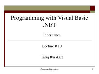 Programming with Visual Basic .NET