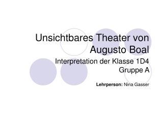 Unsichtbares Theater von Augusto Boal