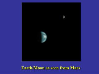 Earth/Moon as seen from Mars