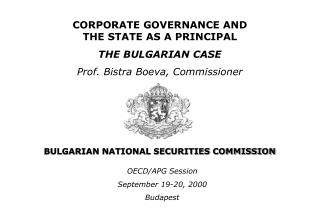 BULGARIAN NATIONAL SECURITIES COMMISSION