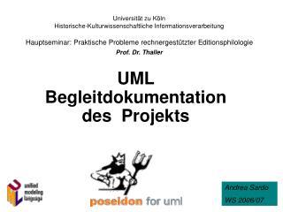 UML Begleitdokumentation des  Projekts