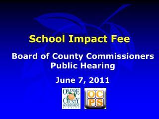 School Impact Fee