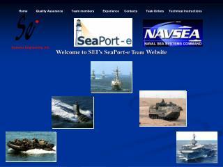 Welcome to SEI s SeaPort-e Team Website