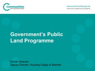 Government's Public Land Programme