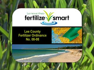 Lee County Fertilizer Ordinance No. 08-08
