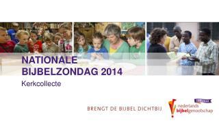 Nationale bijbelzondag 2014