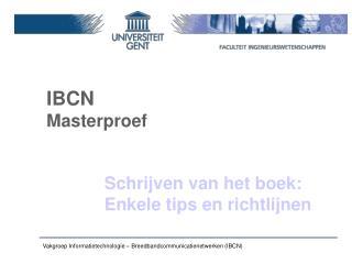 IBCN Masterproef