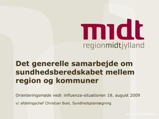 Det generelle samarbejde om sundhedsberedskabet mellem region og kommuner