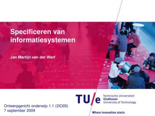 Specificeren  van  informatiesystemen
