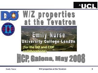 W/Z properties