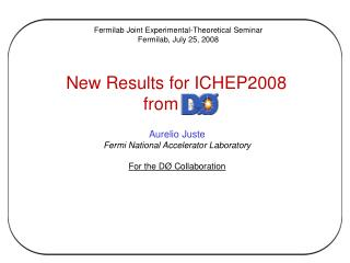 New Results for ICHEP2008 from DØ