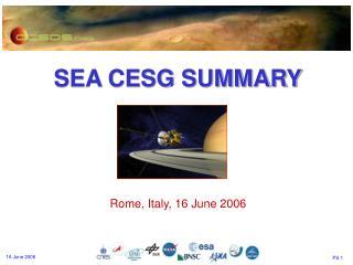 SEA CESG SUMMARY