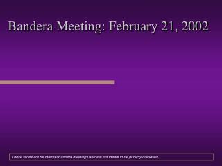Bandera Meeting: February 21, 2002