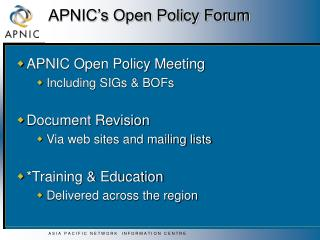 APNIC's Open Policy Forum
