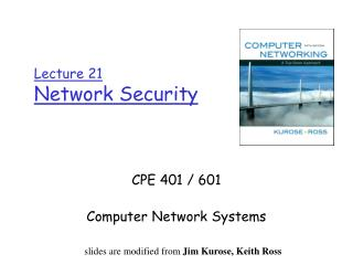 Lecture 21 Network Security