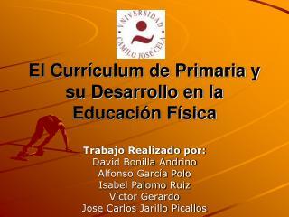 El Currículum de Primaria y su Desarrollo en la Educación Física