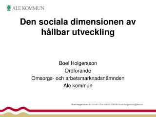 Den sociala dimensionen av h�llbar utveckling