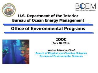 U.S. Department of the Interior Bureau of Ocean Energy Management