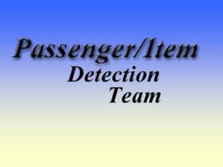 Passenger/Item Detection System for Vehicles