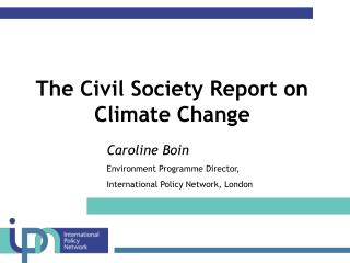 The Civil Society Report on Climate Change