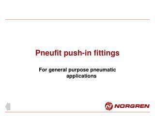 Pneufit push-in fittings