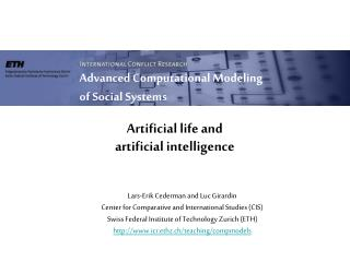 Artificial life and artificial intelligence