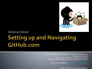 Setting up and Navigating  GitHub