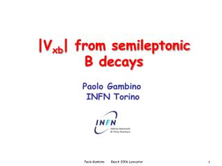 |V xb | from semileptonic B decays