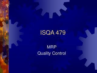 ISQA 479
