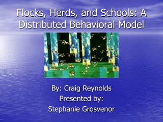 Flocks, Herds, and Schools: A Distributed Behavioral Model