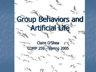 Group Behaviors and Artificial Life