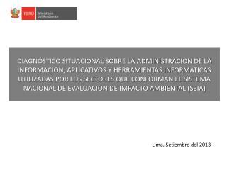 Lima,  Setiembre del 2013