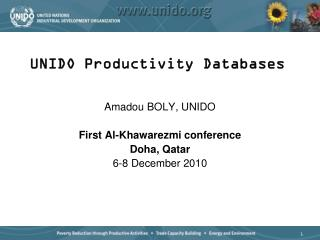 UNIDO Productivity Databases