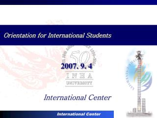 Orientation for International Students