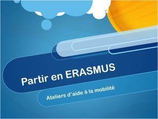Partir en ERASMUS