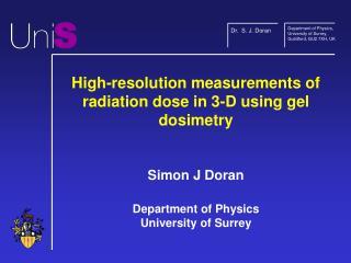Dr.  S. J. Doran