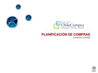 PLANIFICACIÓN DE COMPRAS Formación  contInua