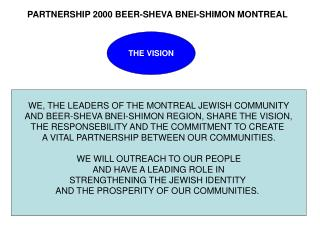 WE, THE LEADERS OF THE MONTREAL JEWISH COMMUNITY