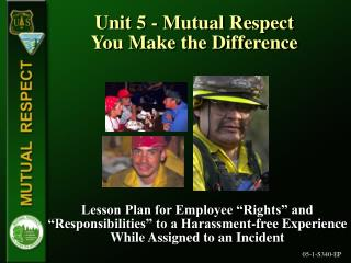 Unit 5 - Mutual Respect You Make the Difference