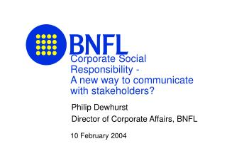 Corporate Social Responsibility -  A new way to communicate with stakeholders?