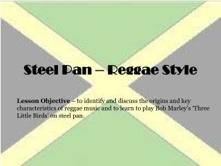 Steel Pan – Reggae Style