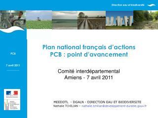 Comité interdépartemental  Amiens - 7 avril 2011
