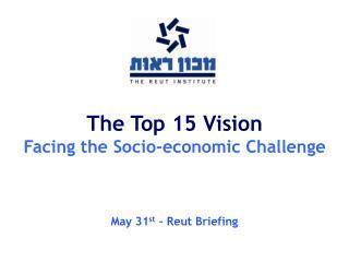 The Top 15 Vision Facing the Socio-economic Challenge