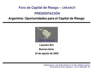 Lisandro Bril Buenos Aires  24 de agosto de  2005