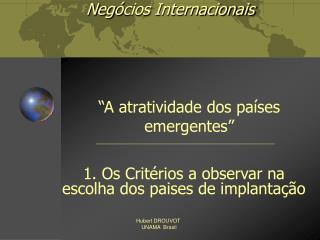 Neg ó cios Internacionais