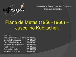 Plano de Metas (1956–1960) – Juscelino Kubitschek