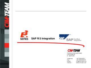 SAP R/3 Integration